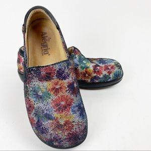 Alegria Slip On Floral Leather Comfort Loafer R398